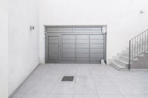 Large garage of the villa