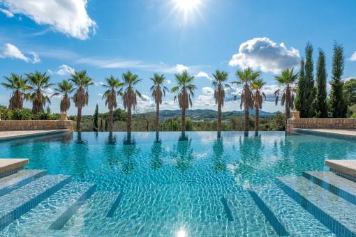 Splendid pool area