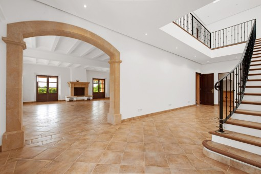 Floor and staircase