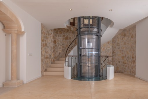 Lift and staircase