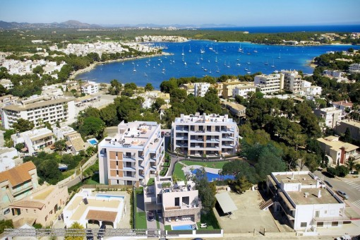 Fantastic penthouse-apartment in a new residential complex only a few minutes from the sea in Portocolom