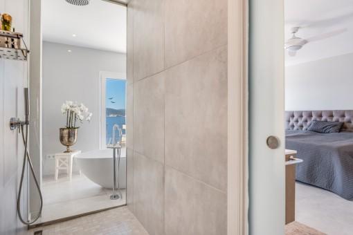 Large, modern shower