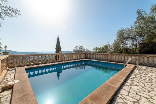 Pool with fantastic views