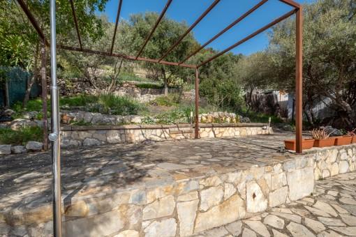 Garden with terraces