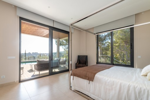 Bedroom with direct terrace access