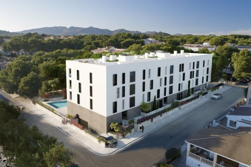 Newly-built project with 21 modern apartments with energy classification A in the centre of Cala Ratjada