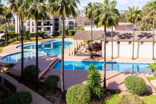 Magnificent apartment in a luxurious community in front of the golf course of Santa Ponsa