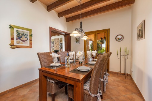 Adjoining dining area with terrace access