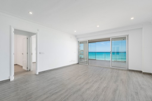 Living area with glazed balcony