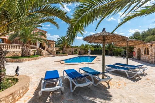 Lovely pool terrace