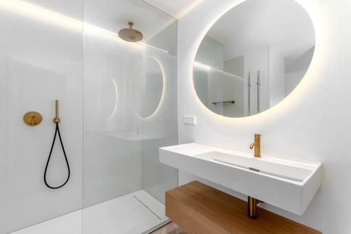 Modern shower bathroom