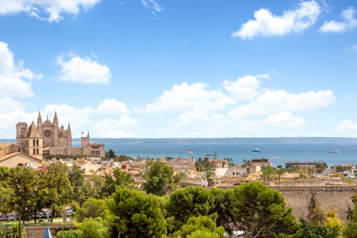 Impressive views of the cathedral and the sea