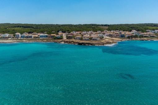 Son Serra de Marina from the sea