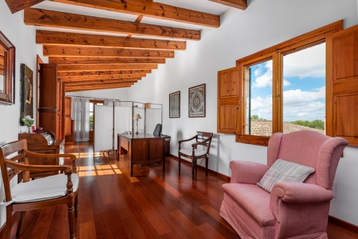 Beautiful office room on the upper floor