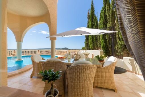 Beautiful outdoor terrace